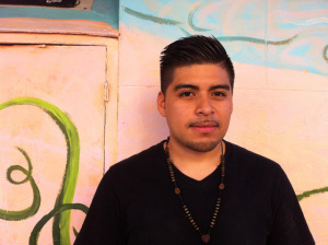 Jesus Perez, 22, grew up in the neighborhood and is studying Criminal Justice at SFSU. Photo by Andrea Valencia