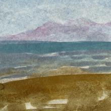 Ocean Beach, Oil, Javier Manrique.  Courtesy of the Artist.