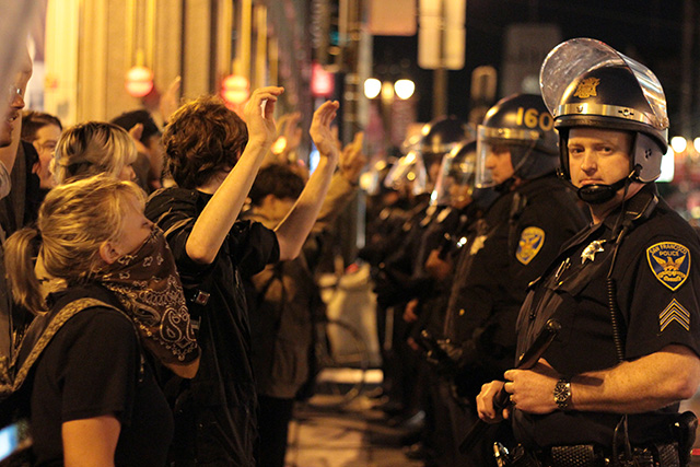 Ferguson Protest in Mission Comes to an End With One Injury, Broken Windows, Arrests