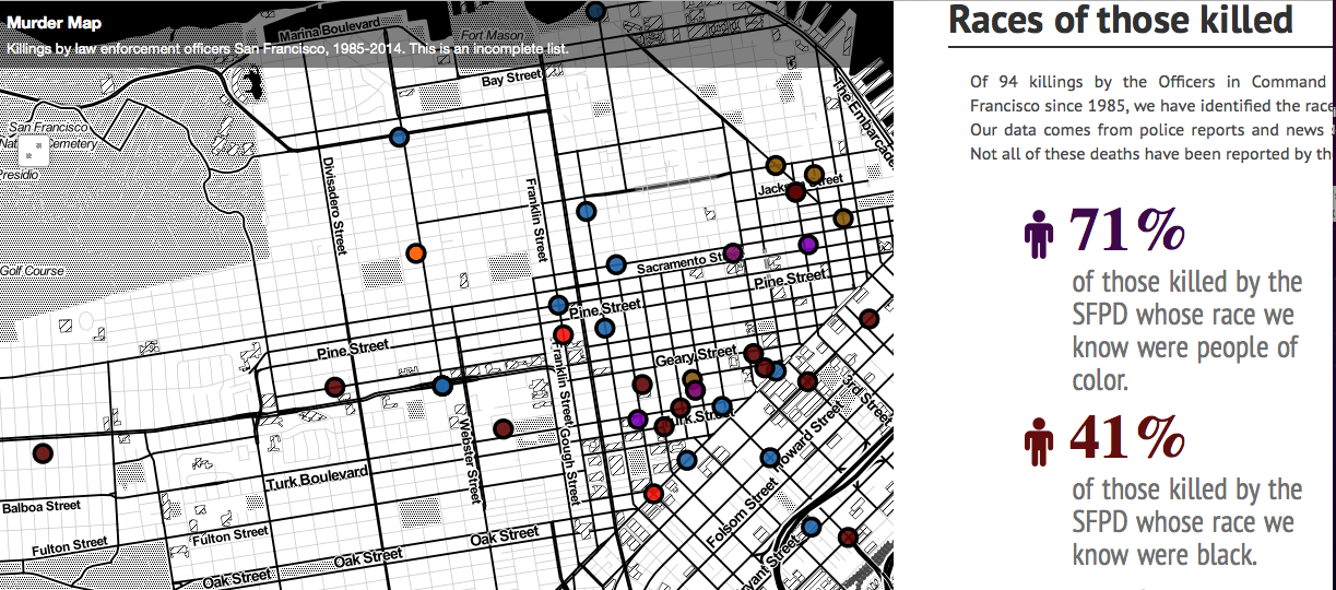 Mapping SF Police Officer Shootings