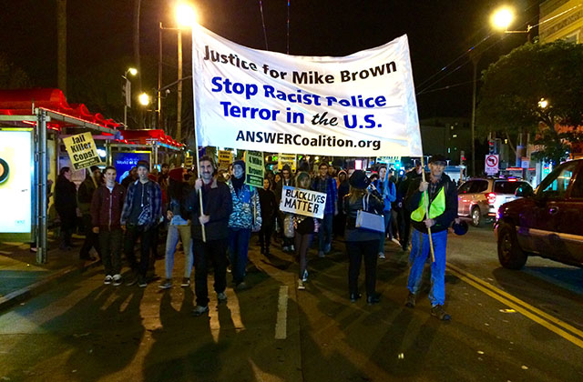 Ferguson Reaction: Protesters March in the Mission