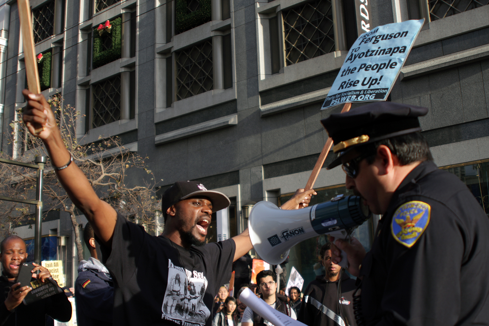 More than A Dozen Protesters Arrested After Blocking Market Street
