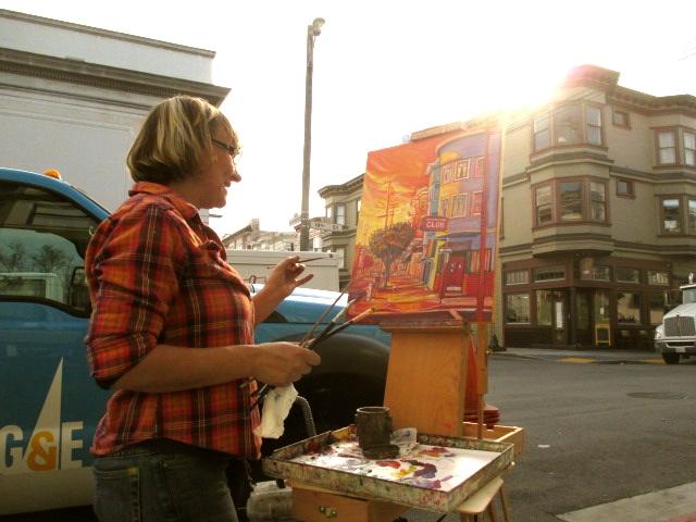 Painting the Lexington Club Corner
