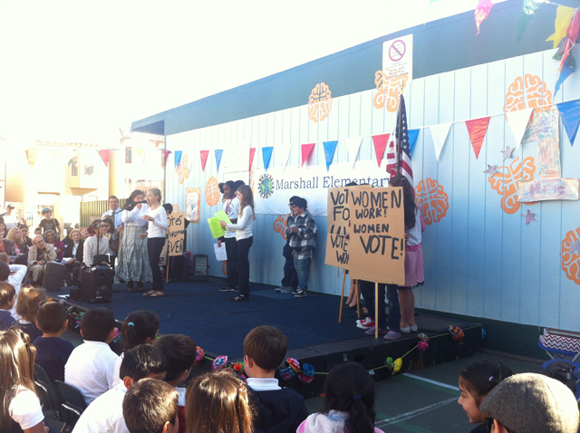 The Suffragettes and Civil Rights presentation. Photo by Andrea Valencia
