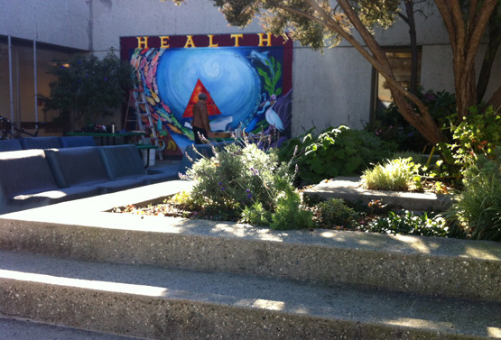 The Health mural, also on one side of the garden in the patio.