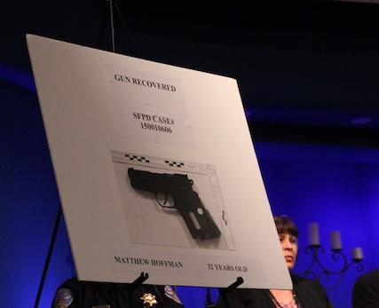 Photo of the airsoft gun found on Matthew Hoffman following his fatal shooting by SFPD. Photo by Daniel Hirsch.