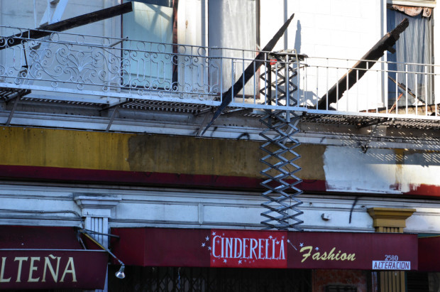 File photo: A fire escape that did not extend. Photo by Cristiano Valli