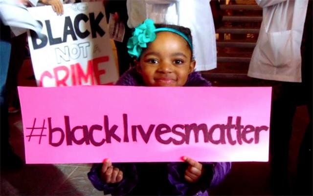Parents Teach Children #BlackLivesMatter with March