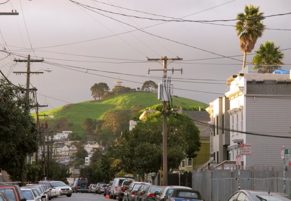 Bernal Hill from 23rd St. Photo by Kathleen Narruhn