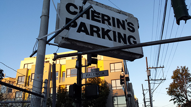 Adjacent parking.  Photo by Robert Taylor