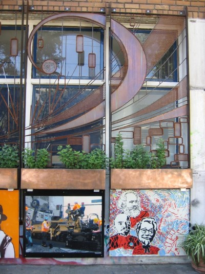 Eight-Panel Metal Mural Needs a New Home