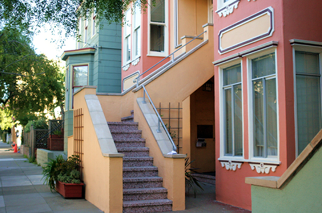 San Jose Ave. is always quiet, leafy, and colorful.  Photo by David Watterson