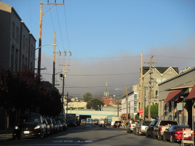 Looking at the fog from from Florida down to 18th St Photo by Kathleen Narruhn
