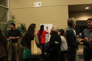 People at the meeting last night brainstorming ideas for the different subcommittees. Photo by Andrea Valencia