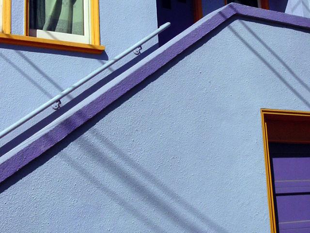 Purple and orange house. Photo by Cynthia Wigginton