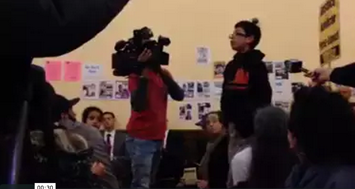 One Youth Speaks Out at the Mission Town Hall