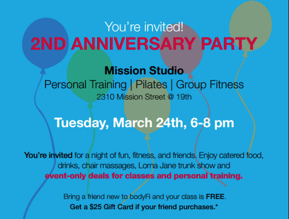 bodyFi Turns Two Tuesday and Invites You to Celebrate