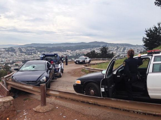 Vehicle Crashes on Bernal Heights Park Service Road