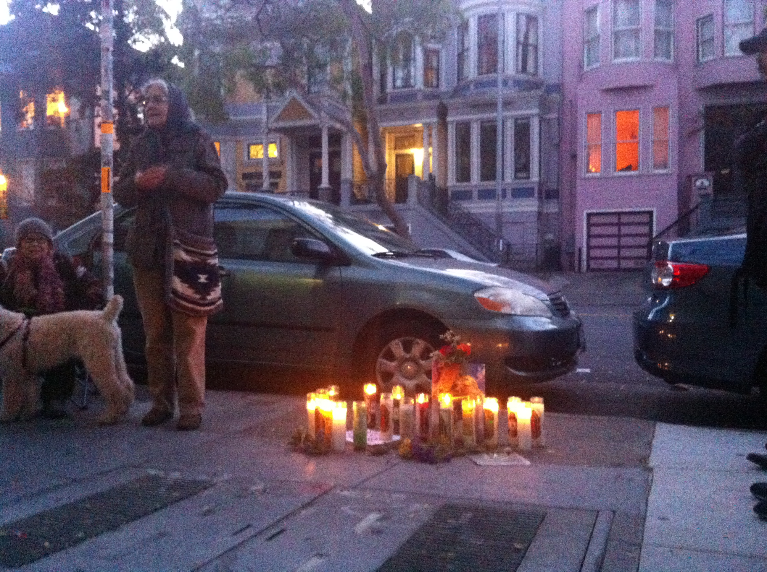 At Vigil on Folsom St, Sharply Different Account of Police Shooting