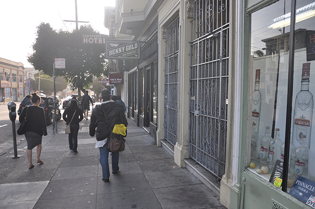 16th Street is a Corridor for Those Heading to BART in the Morning. Photo by Christian Albertson