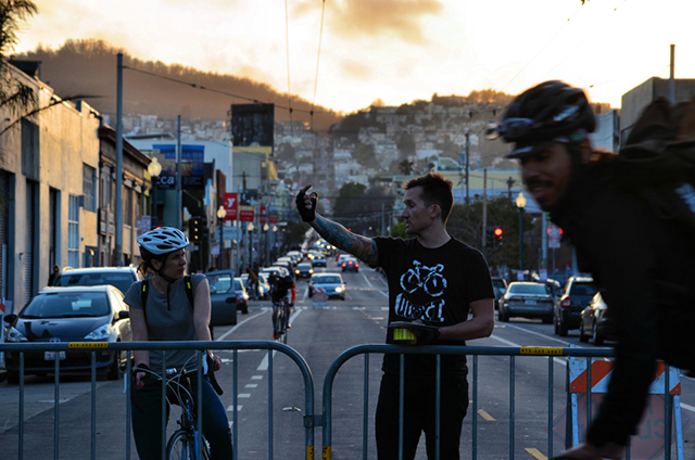 James Grady, Mission Crit organizer, before the race began. Photo by Cristiano Valli