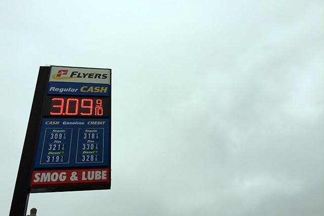Really? More than $3 a gallon still? Photo by Lydia Chávez
