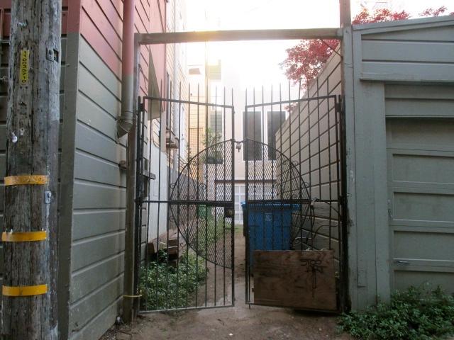 Garage behind Gate Photo by Kathleen Narruhn