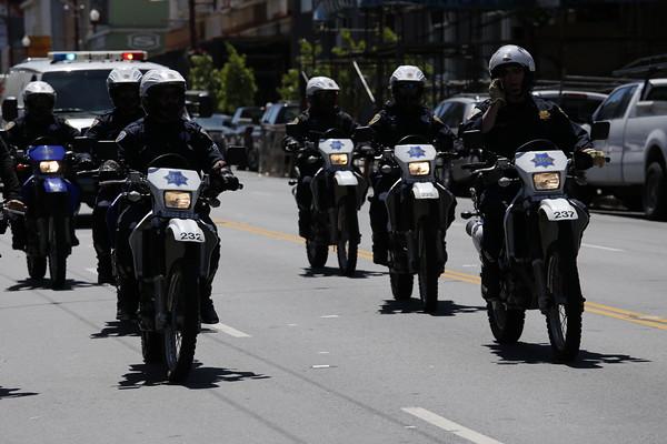 Police on bike. Photo by Brock Hanson.