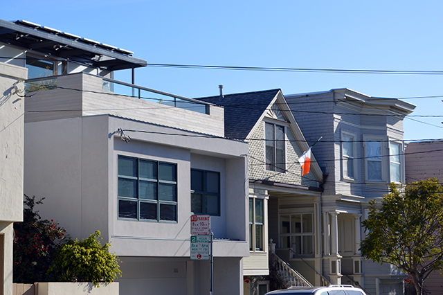 Old and new housing. Photo by Shani Heckman