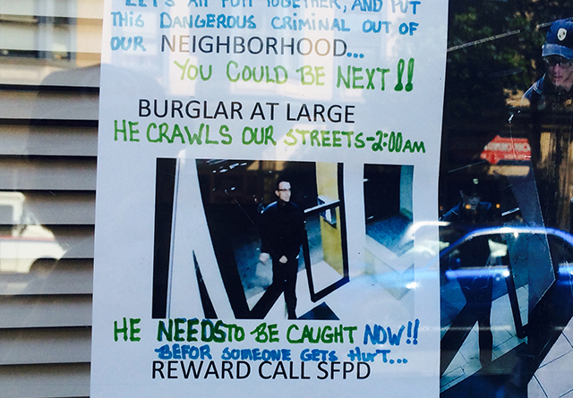 Burglar at Large. Photo by Elise Marie Collins