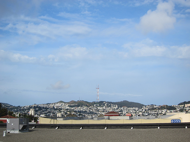 View of Twin Peaks from the rooftop. Photo by Lily Liang
