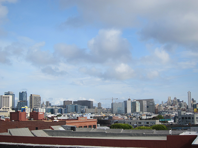 View of downtown SF from the rooftop. Photo by Lily Liang