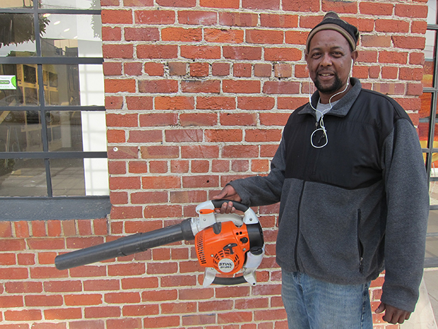 This is Robert Johnson who has worked on this block for 15 years. He knows all of our names and greets us every morning with a hearty hello and smile. Photo by Lily Liang