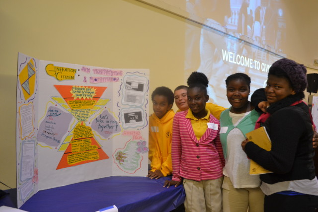 Sankofa Middle School of Oakland's presentation on ending sex-trafficking in East Oakland.