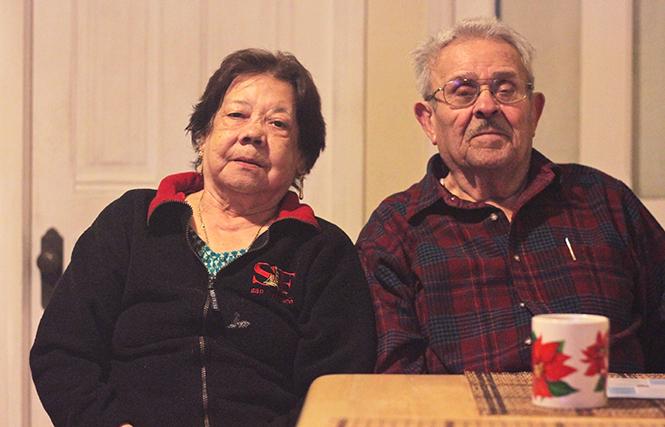 Florentino e Imelda (Mela) Ortíz, en su casa de la calle 24. Foto de Daniel Mondragón