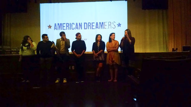"""Saray Deiseil, co-director of """"American Dreamers"""", answers an audience question at  Saturday night's pre-screening."""