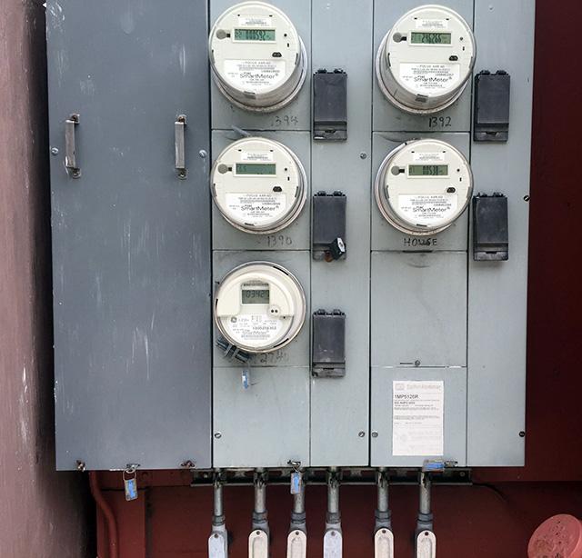 Meters. Photo by Lydia Chávez