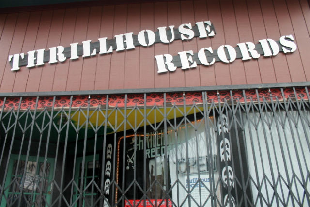 Thrillhouse is a nonprofit, volunteer-run store specializing in punk and underground music. Photo by Anita O'Brien