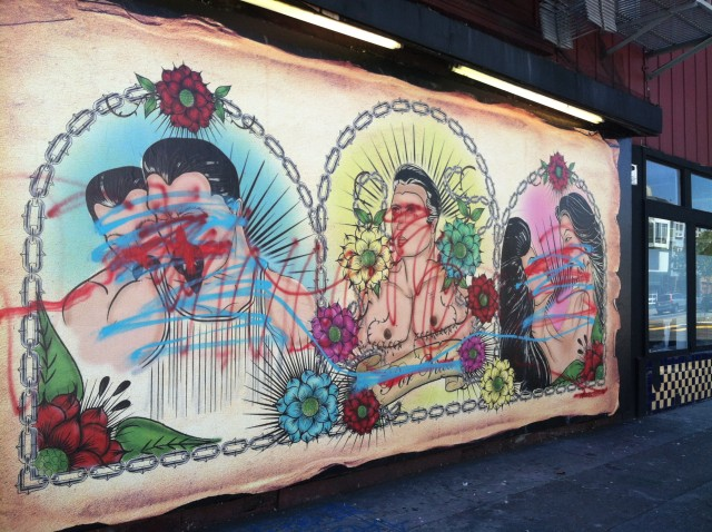 SF Gay Mural and Art Exhibit Defaced and Defamed