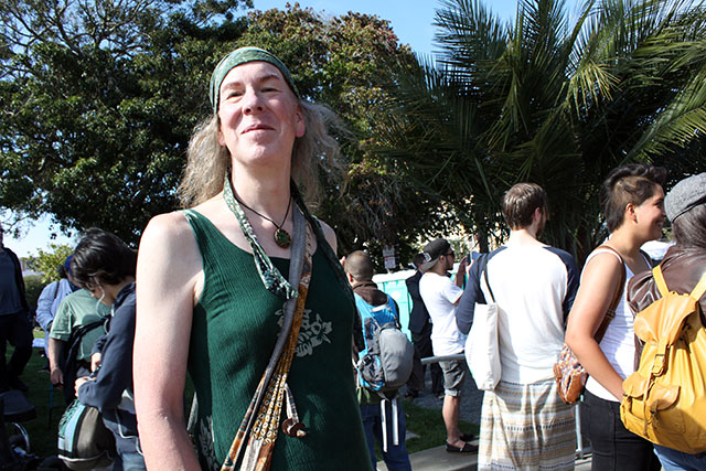 Diana Morningstar's first time at Trans March. Photo by Emma Neiman
