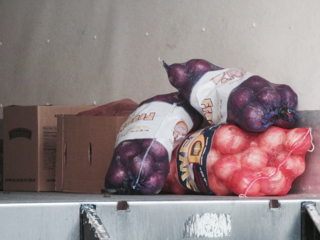 Onions on Truck Photo by Kathleen Narruhn