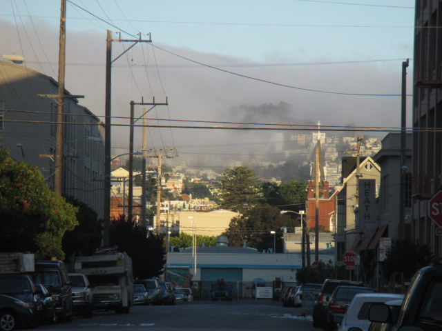 Fog looking West on 18th St Photo by Kathleen Narruhn