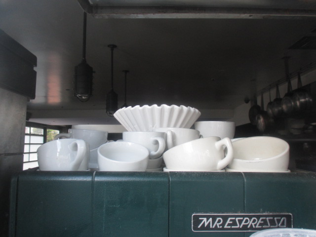 Coffee Filter with Cups Photo by Kathleen Narruhn