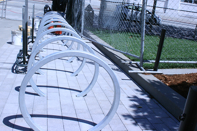 On the corner of 18th and Church, new bike racks are ready to keep cyclists' rides safe.