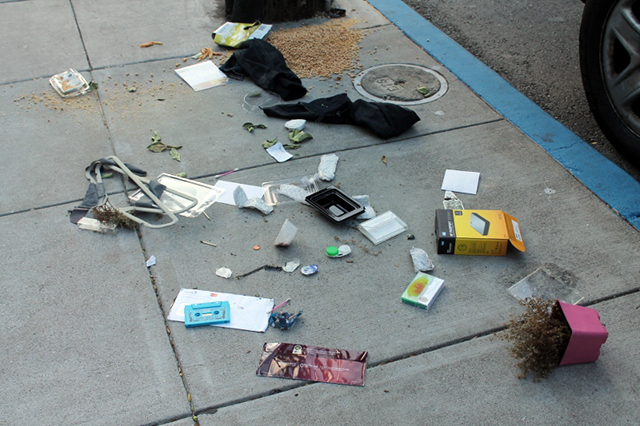 Somebody's detritus. Photo by Anita O'Brien