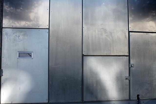 Metal wall. Photo by Anita O'Brien