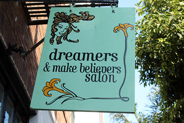 A cute salon on 14th. Photo by Anita O'Brien