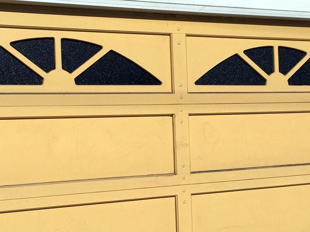 Garage door. Photo by Jane Segal
