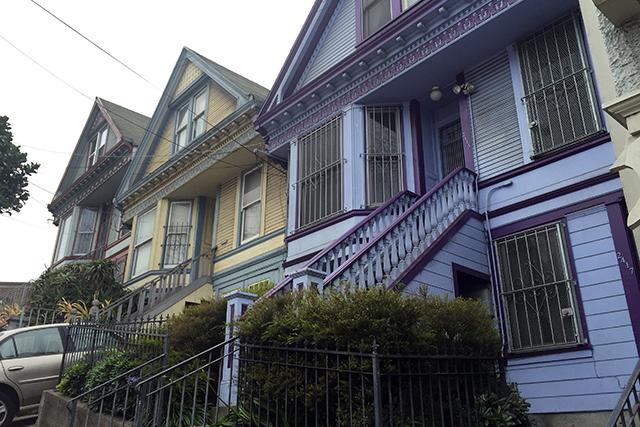 Pretty houses all in a row. Photo by Lydia Chávez