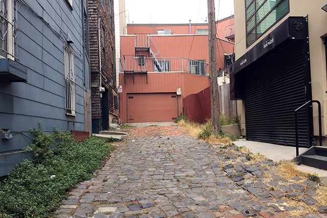 This is it, cobbled, Pink Street/Alley. Photo by Lydia Chávez
